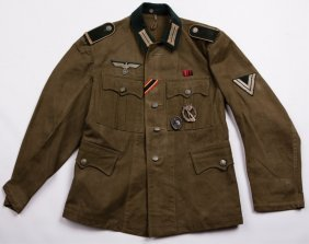 Wwii German M36 Tunic With Medals