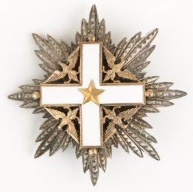 Italian Order Of Merit Breast Star Badge