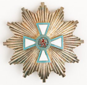 Luxembourg Order Of Merit Silver Breast Star Badge