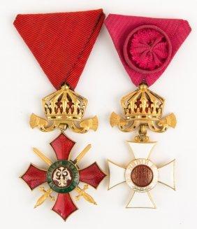Bulgarian Order Cross Medal Lot Of 2
