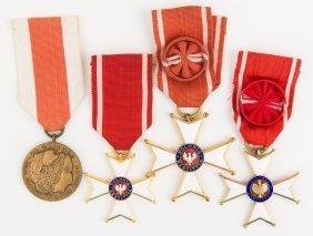 Polish Medal Lot Of 4