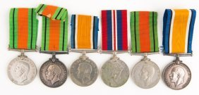 British War Medal Lot Of 6