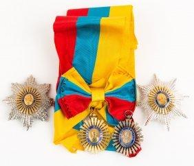Venezuela Order Of Simon Bolivar Badge & Medal Lot