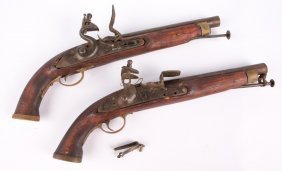 Pair Of Display Flintlock Pistols