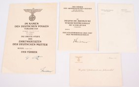 Lot Of Wwii German Documents & Awards