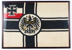 Wwi Imperial German Flag Framed