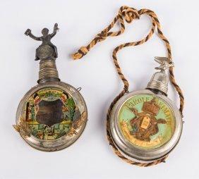 Wwi Imperial German Regimental Flask Lot Of 2