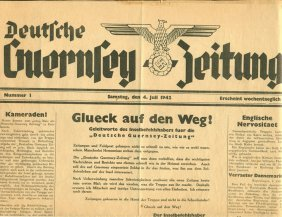 Wwii German Occupied Britain Guernsey Newspaper
