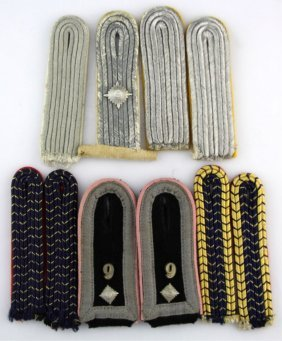 Wwii German Shoulder Board Lot Of 5 Pairs