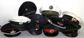 Cold War German Visor Cap Lot Of 10