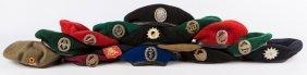 Cold War German Beret Lot Of 15