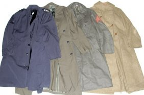 Us Military Overcoat Lot Of 4