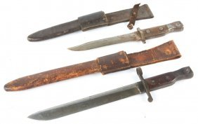 Wwi Us Canadian Ross Rifle Co Bayonet Lot Of 2