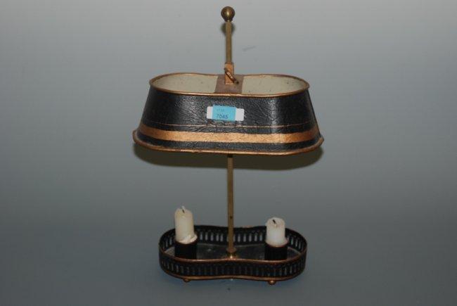 kleine tischleuchte 19 jh metallblech schwarz gold lot 7045. Black Bedroom Furniture Sets. Home Design Ideas