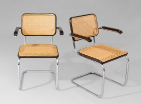 breuer marcel 1902 1981 vier freischwinger modell. Black Bedroom Furniture Sets. Home Design Ideas