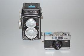 Lot: 2 Rollei-fotokameras (1) Deutschland, 1950/60er
