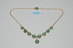 *smaragd-brillant-collier 750 Gelb-/ Weissgold. 7