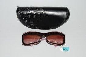 Versace, Sonnenbrille Brauner Und Mauvefarbener