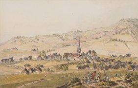 """Gais """"vue De Gais. Bourg Dans Le Canton Appenzell."""