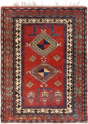 Kazak-bordjalou O-kaukasus, Um 1900. Auf Ziegelrotem