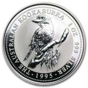 1995 1 Oz Silver Australian Kookaburra