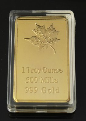 1 Troy Ounce 500 Mills 999 Gold Proof Layered Lot