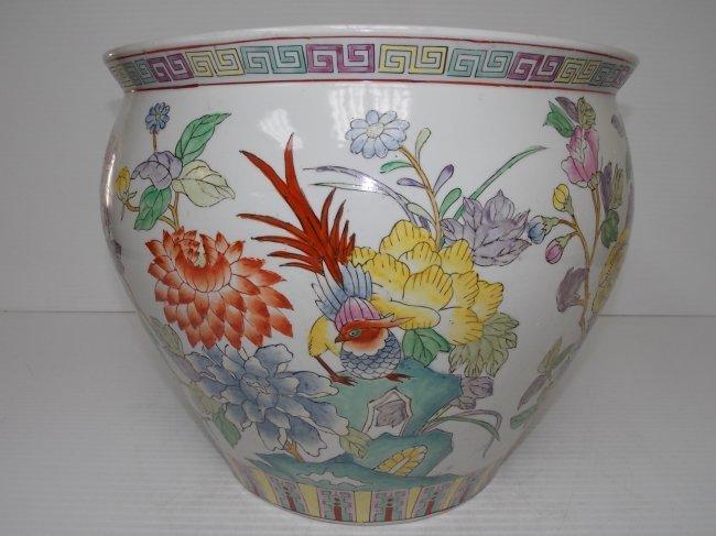 Huge decorative chinese porcelain fish bowl flower pot for Decorative fish bowls