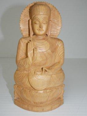 Vintage Wooden Carved Indonesian Hindu Statue