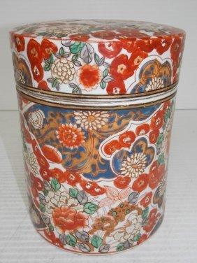 Hand Painted Chinese Imari Opium Jar