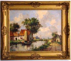 "Martin, Dutch Scene, Oil On Canvas. 22"" X 26"""