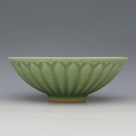 A Chinese Song Longqun Kiln Celadon Glaze Porcelain Bow