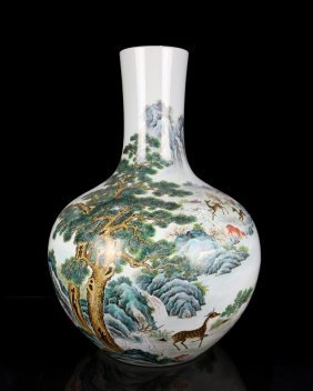 A Very Large Chinese Qing Famille Rose Porcelain Vase