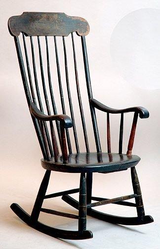 265: Antique Salem Rocker : Lot 265