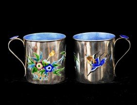 ENAMELED SILVER CUP