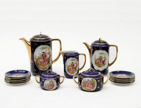 TWENTY-FIVE PIECE DEPIAG PORCELAIN DEMITASSE SERVIC