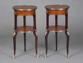 LOUIS XV STYLE PARQUETRY SIDE TABLES