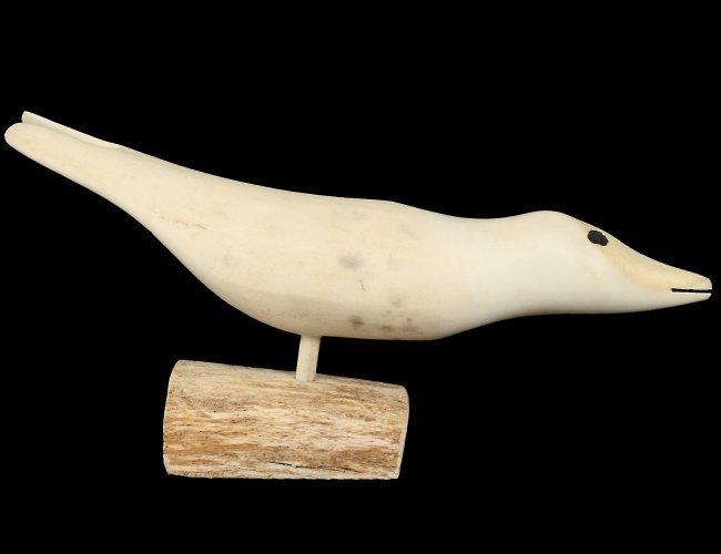 Inuit carved whale bone bird lot