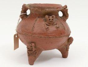 Pre-columbian Style Pottery Vessel