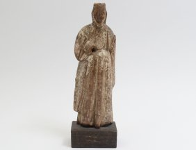Carved Wood Figure Of St. Anna