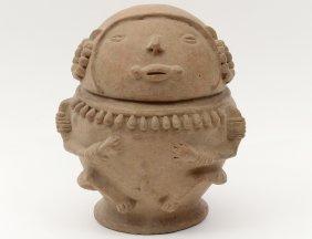 Pre-columbian Funerary Lidded Vessel