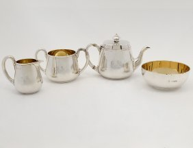 Four Piece Associated Storr & Mortimer Sterling Silver