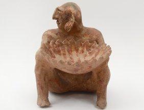"Pre-columbian Style Pottery Figure ""baule"""