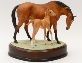 """Royal Worcester Porcelain """"horse & Foal"""""""