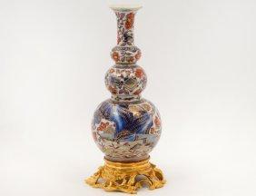 Fine Gilt Bronze Mounted Porcelain Kangxi Vase