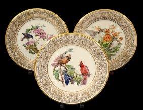 "Group Of Three Boehm Porcelain ""bird"" Plates"