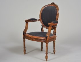 Louis Xvi Style Stained Fauteuil
