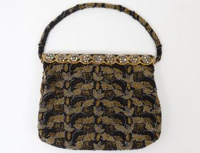 "Goldie R. Blum Beaded And ""jeweled"" Purse"