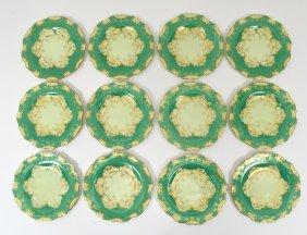 Set Of Twelve Cauldon Porcelain Bread And Butter Plates