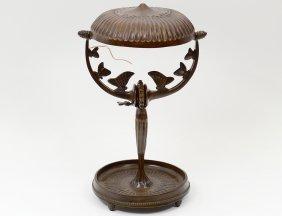 Rateau Patinated Bronze Desk Lamp
