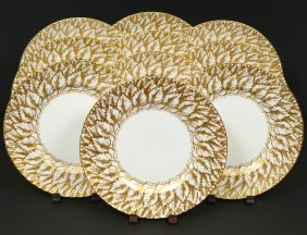 Set Of Ten Royal Worcester Porcelain Serving Plates
